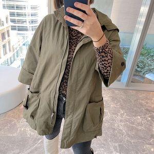 Zara Basic Khaki Parker - Size XS